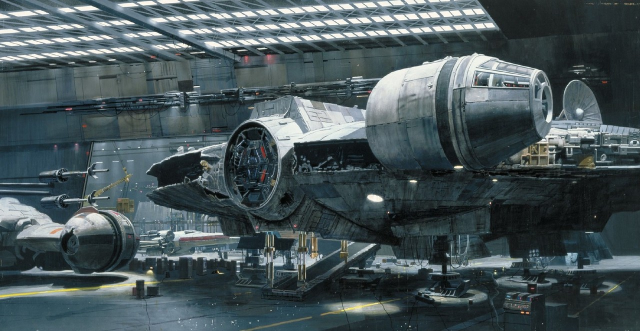 Yes, you heard that right, a full-scale Millenium Falcon 1:1 is built ...