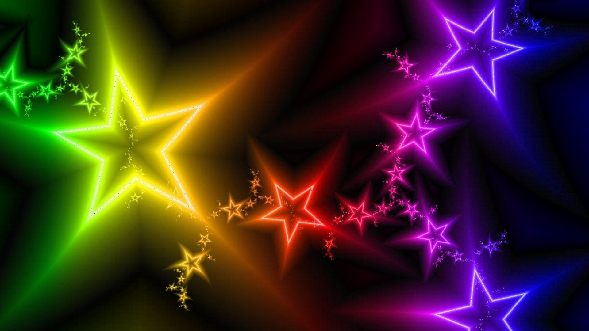 Free Download Wallpaper Colorful Stars Wallpapers Hd