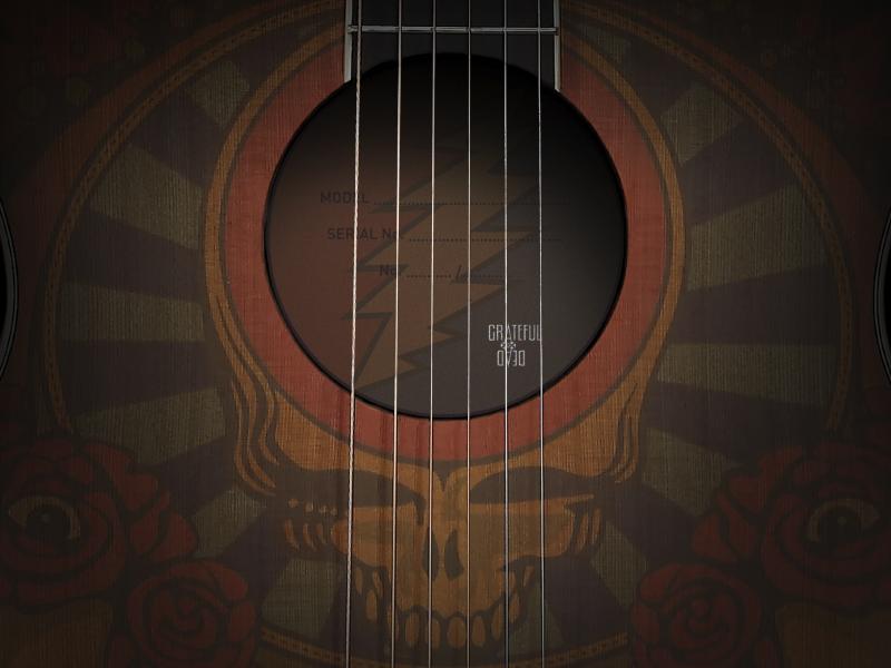 Dribbble   Grateful Dead 50th Anniversary Guitar by John Randall 800x600