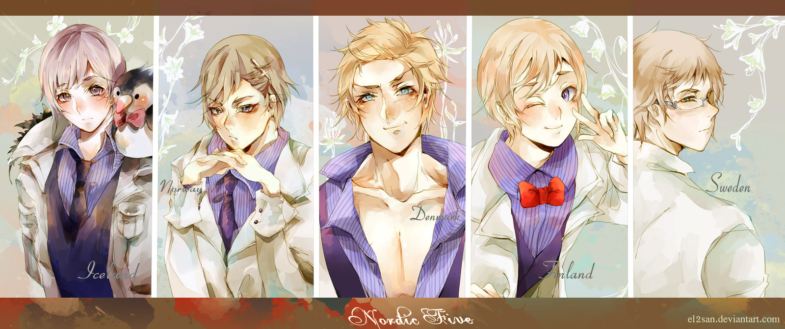 Nordics Hetalia Wallpaper Nordic five by el2san 1600x672