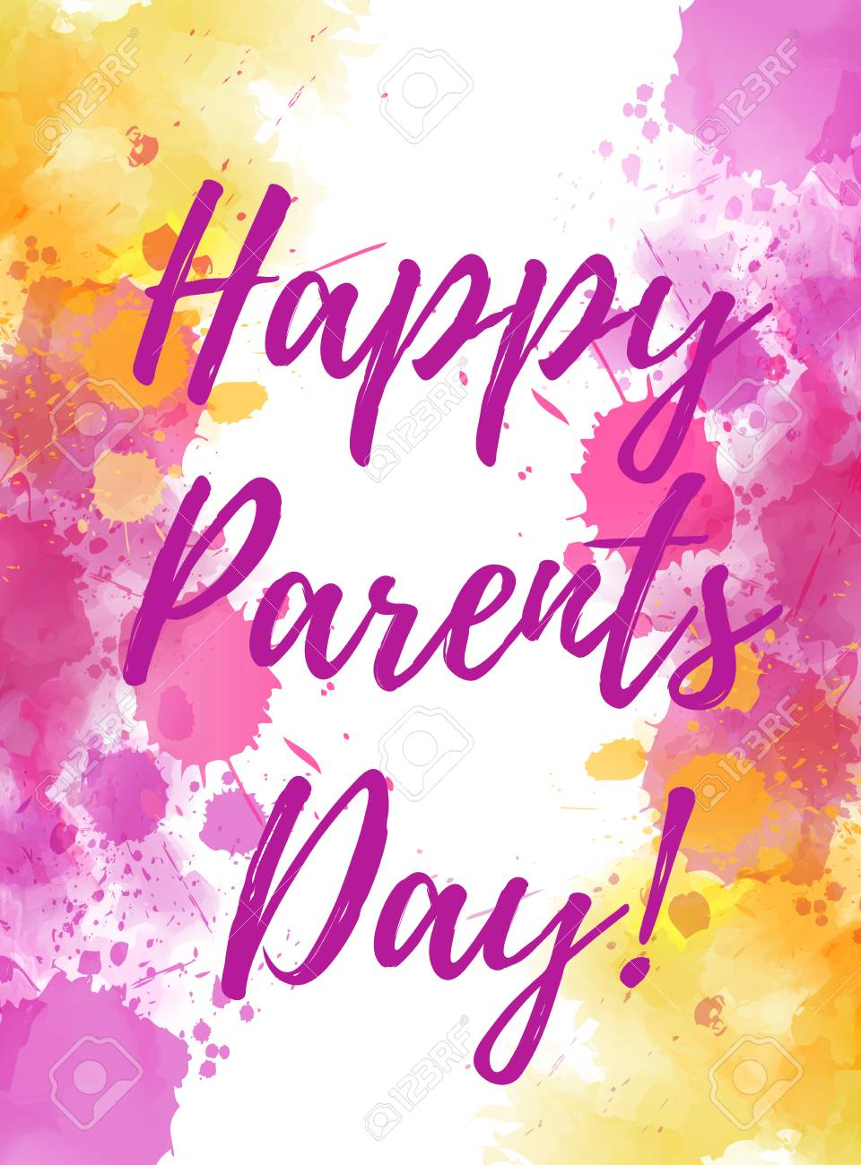 Happy Parents Day Holiday Background With Abstract Watercolor 960x1300