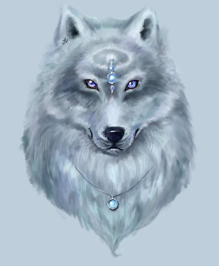 Ice wolf by Amales 700x850