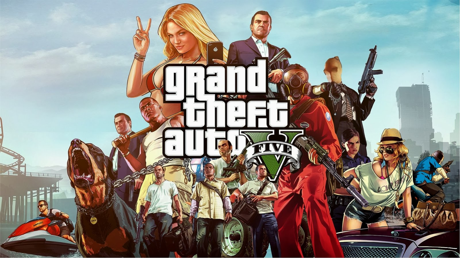 wallpaper gta grand theft auto 5 hd gratis download gta v 1080p 1600x900
