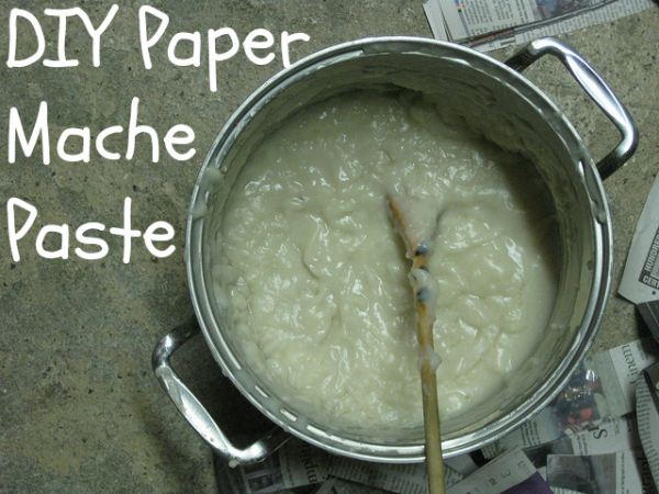 How To Make Paper Mache Paste Blissfully Domestic 600x450