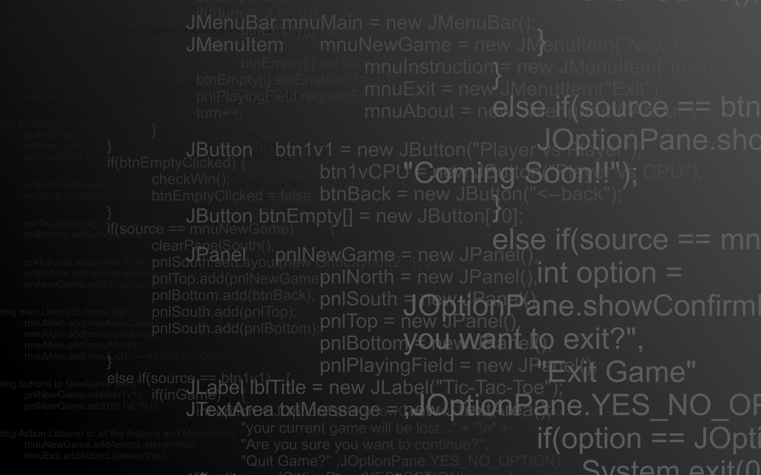 Computers programming technology code java wallpaper background 2560x1600