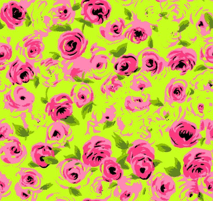 floral wallpaper rosette pink yellow Betsey Johnson Craft Room 736x696