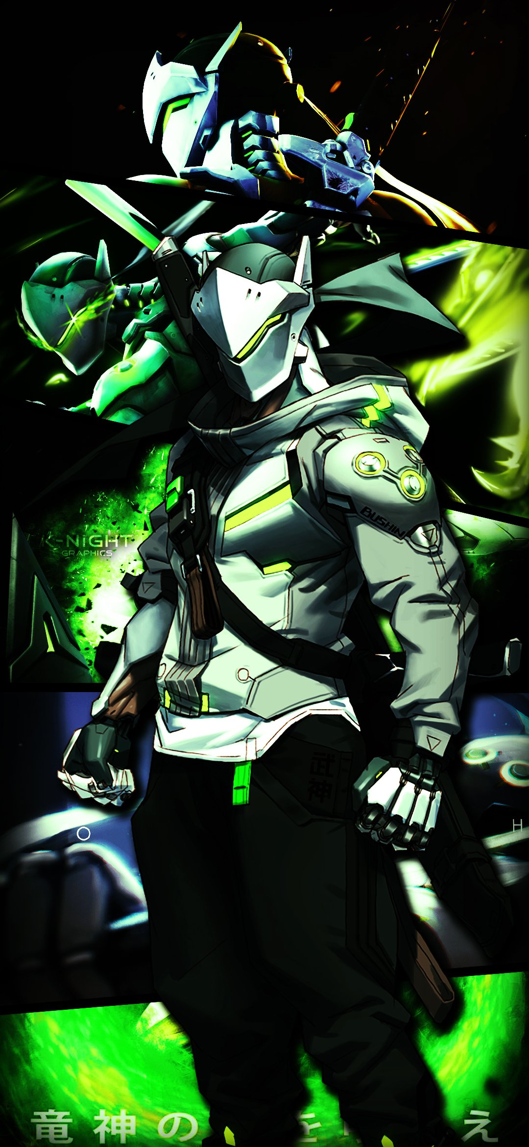 Genji Phone Wallpaper by JackTheKnight 1080x2340