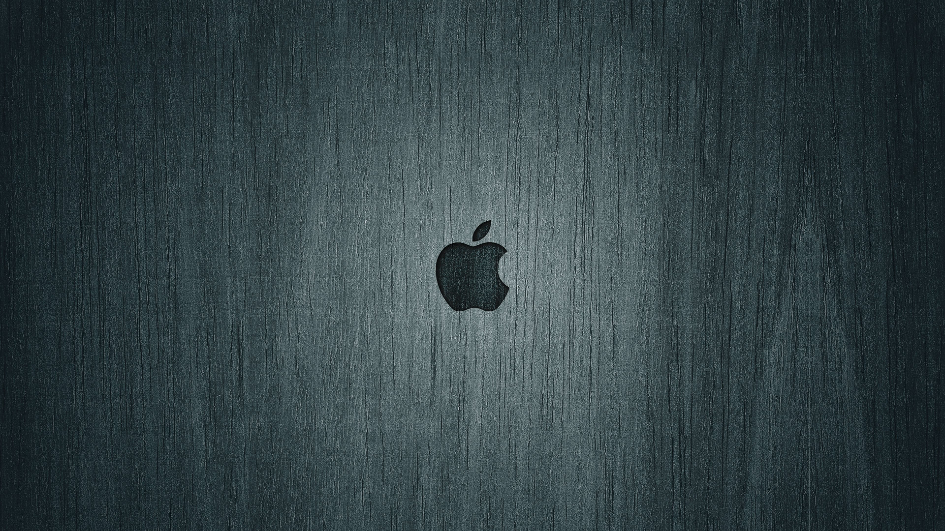 Apple Mac Background Black Brand Logo Wallpaper Background 4K 3840x2160