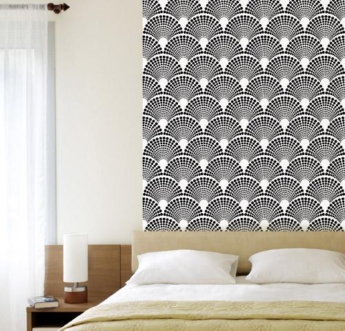 removable wallpaper tiles for renters San Fran Apartment Pinterest 500x480