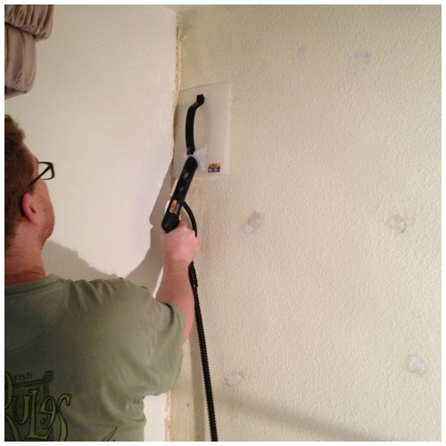 pass with the steamer to remove all the old wallpaper adhesive 500x500