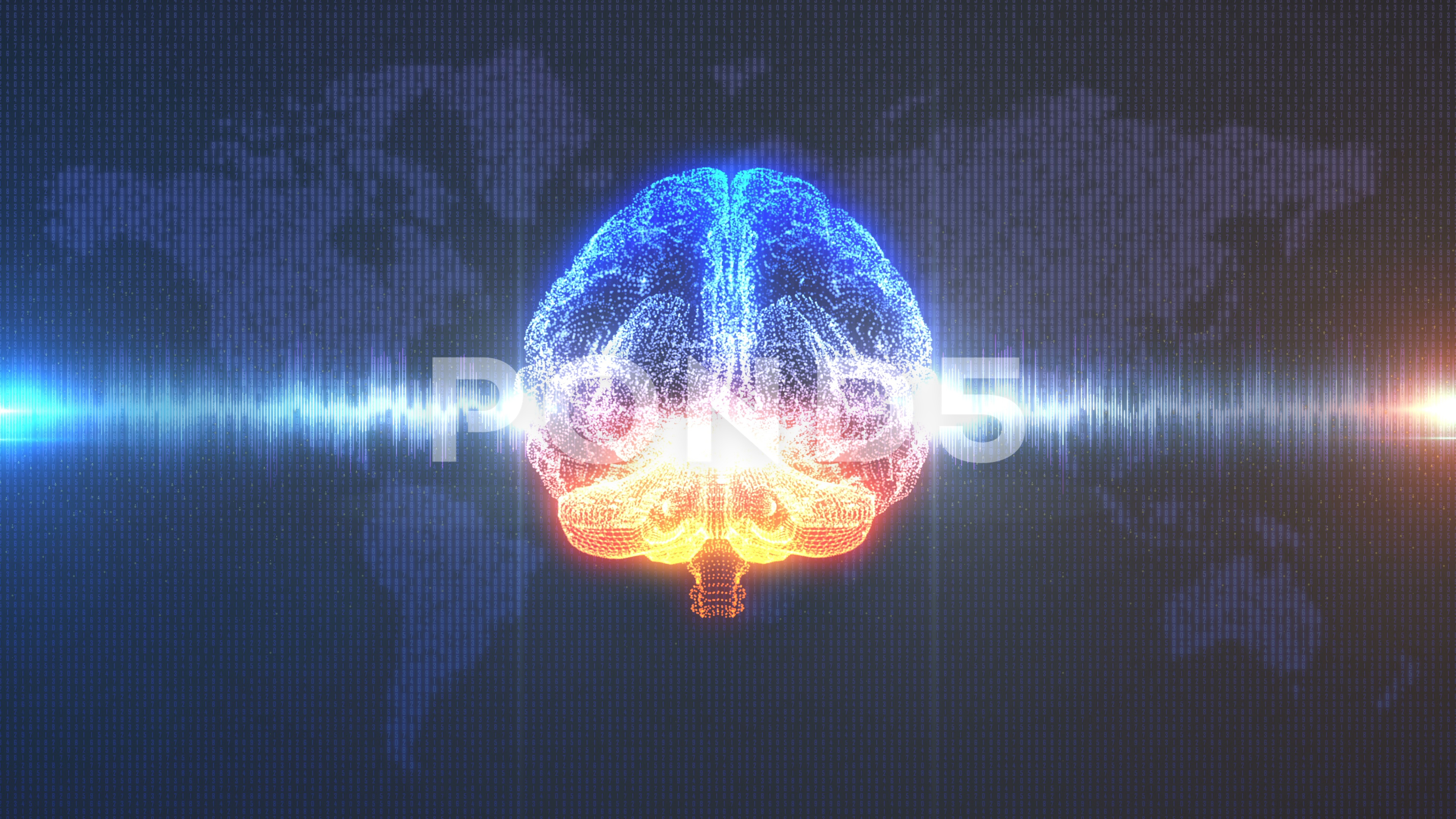 Brain with brainwave in front of Earth background Hi Res 73176481 3840x2160