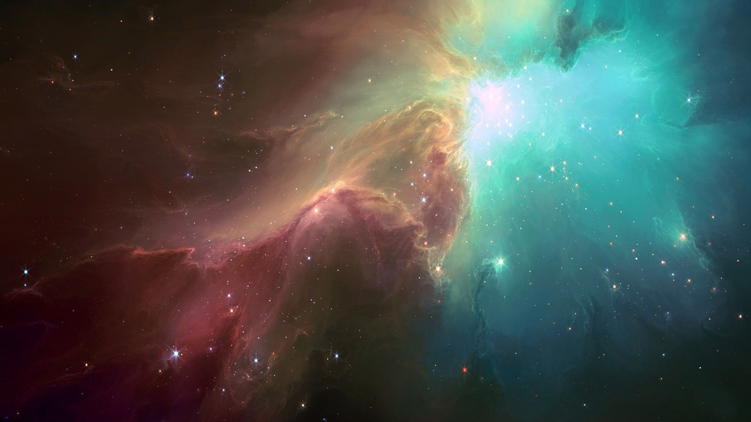 Multicolored nebula wallpaper 15008 2560x1440