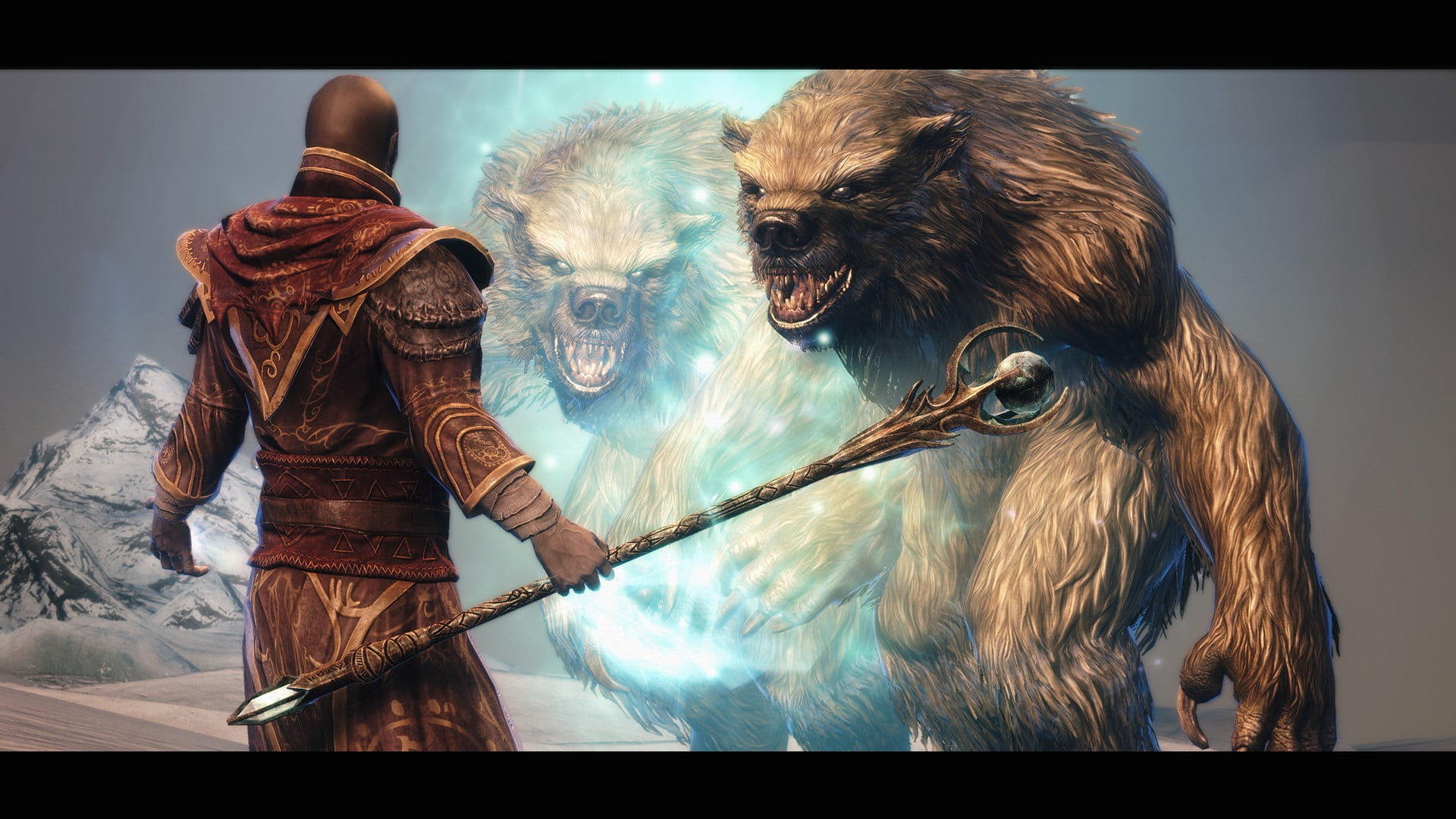 Mage and beast wallpaper The Elder Scrolls V Skyrim sorcerer 1920x1080