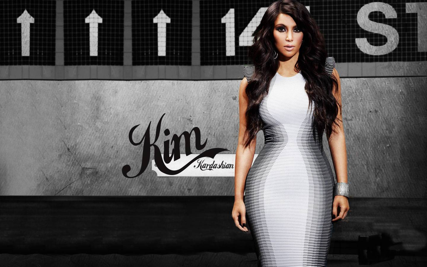 Pics Photos   Kim Kardashian Makeup Hd Wallpapers 1440x900
