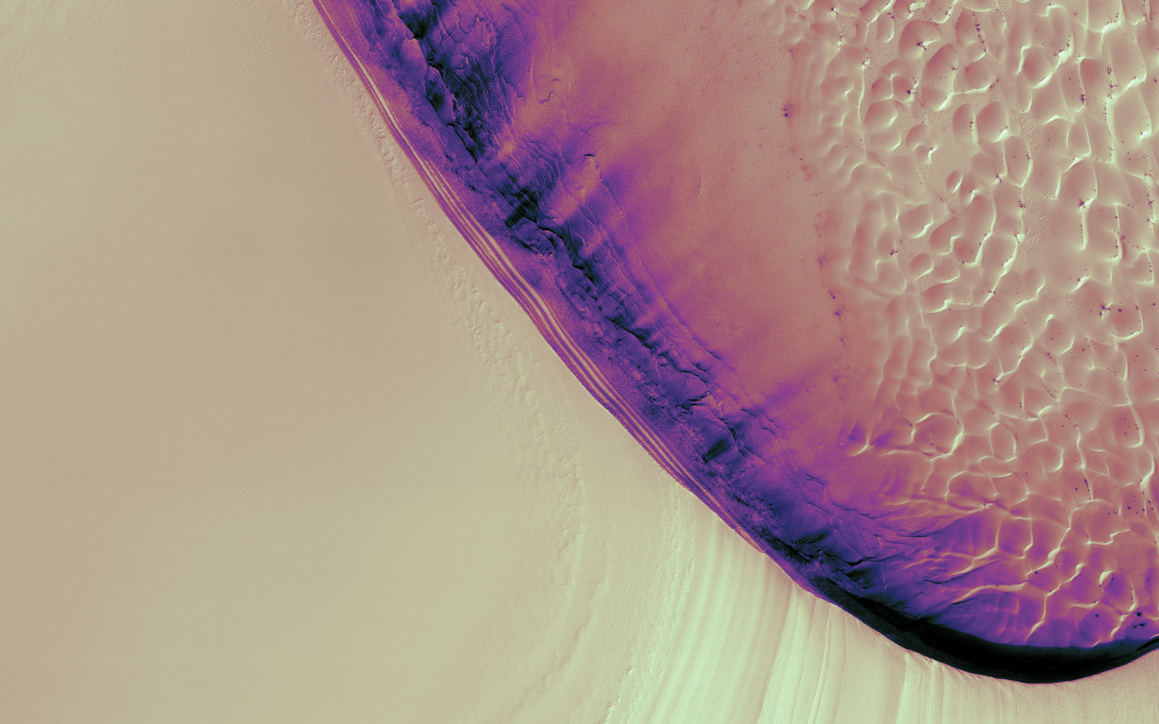 Full HD Wallpapers Dual Screen Space Dunes Left Screen Mars 1680x1050