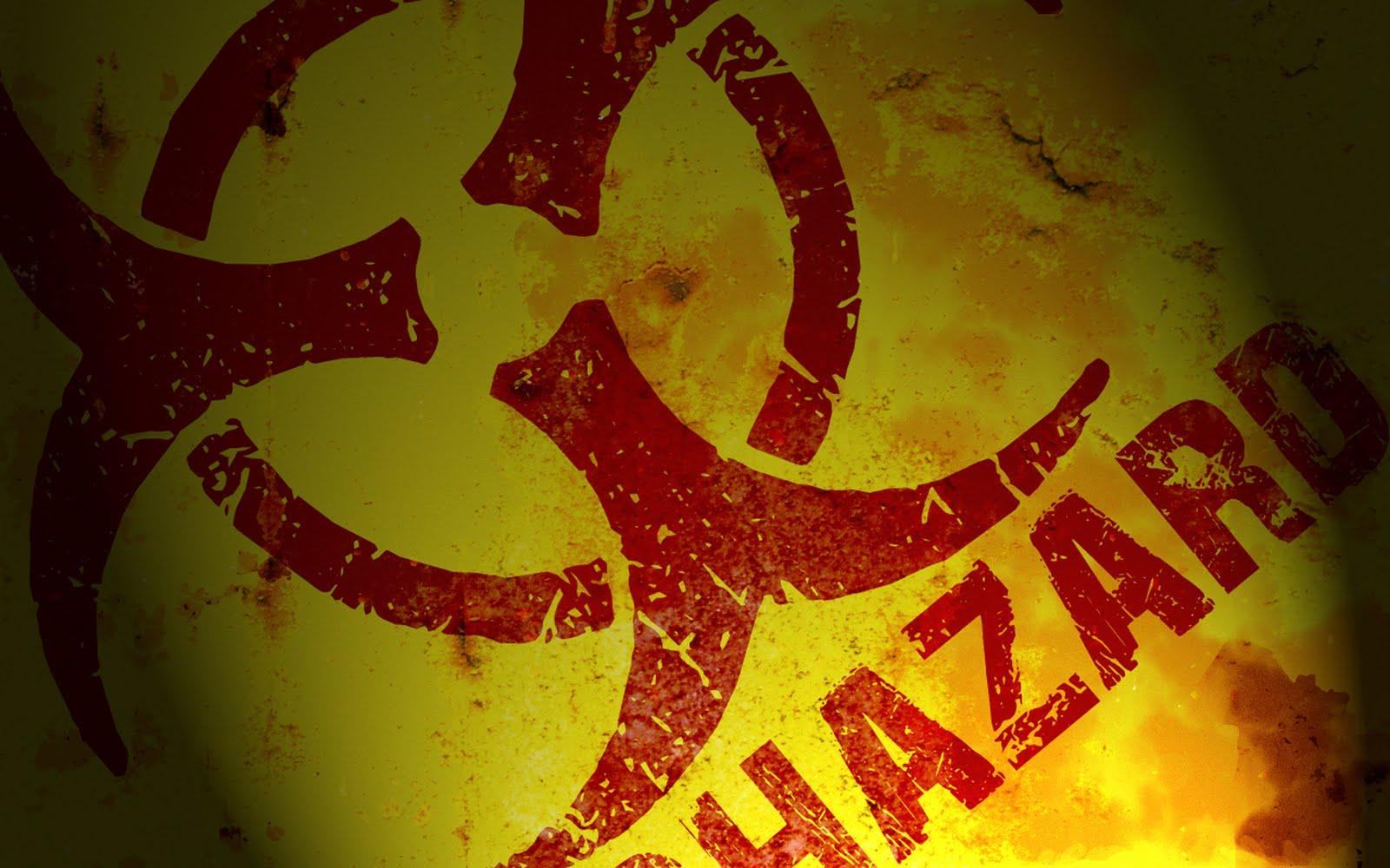 Biohazard Warning Signs Logo HD Wallpapers Desktop Wallpapers 1600x1000