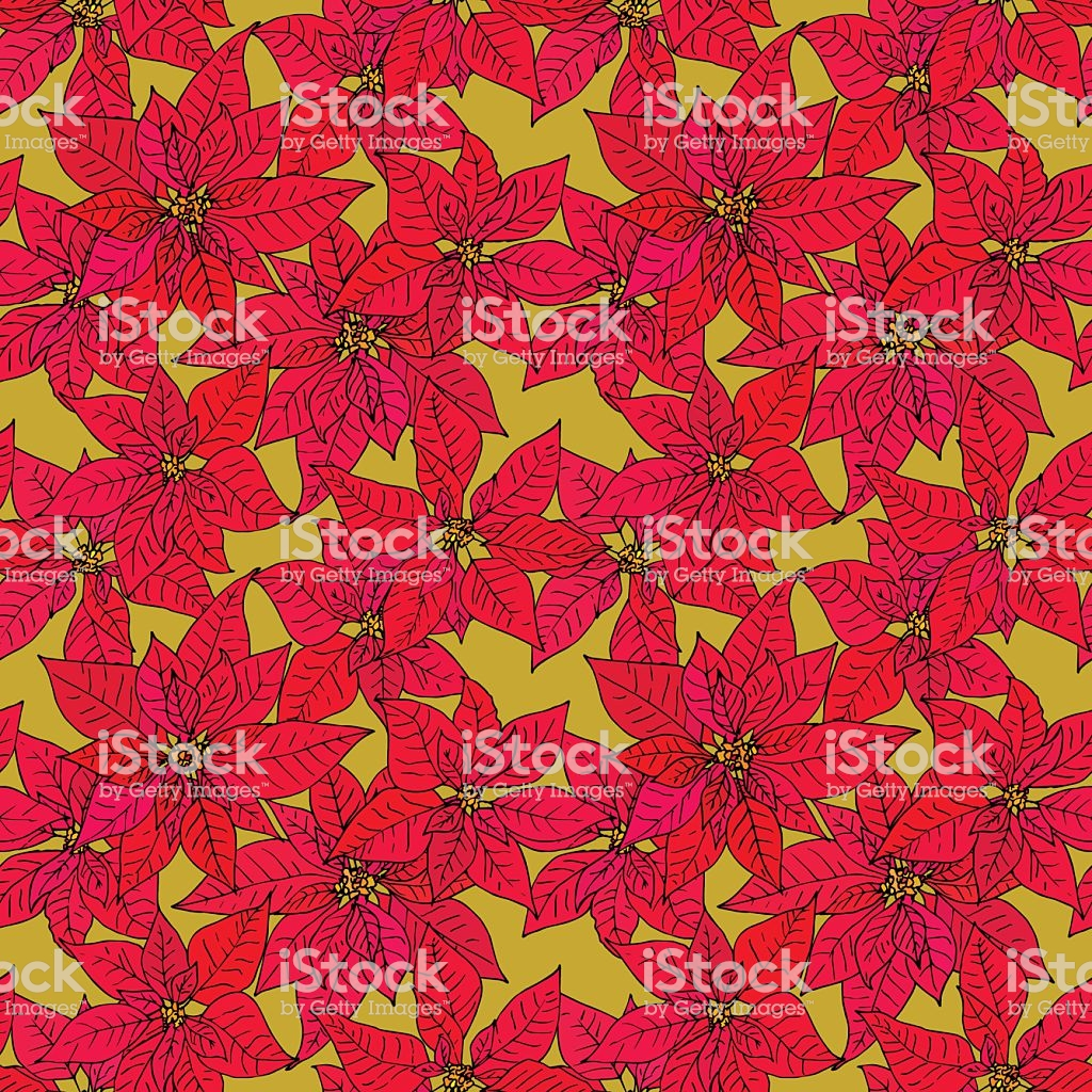 Seamless Background With Poinsettia Stock Vector Art More Images 1024x1024