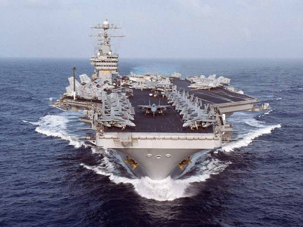US Navy Aircraft Carrier USS Dwight D Eisenhower desktop 1024x768