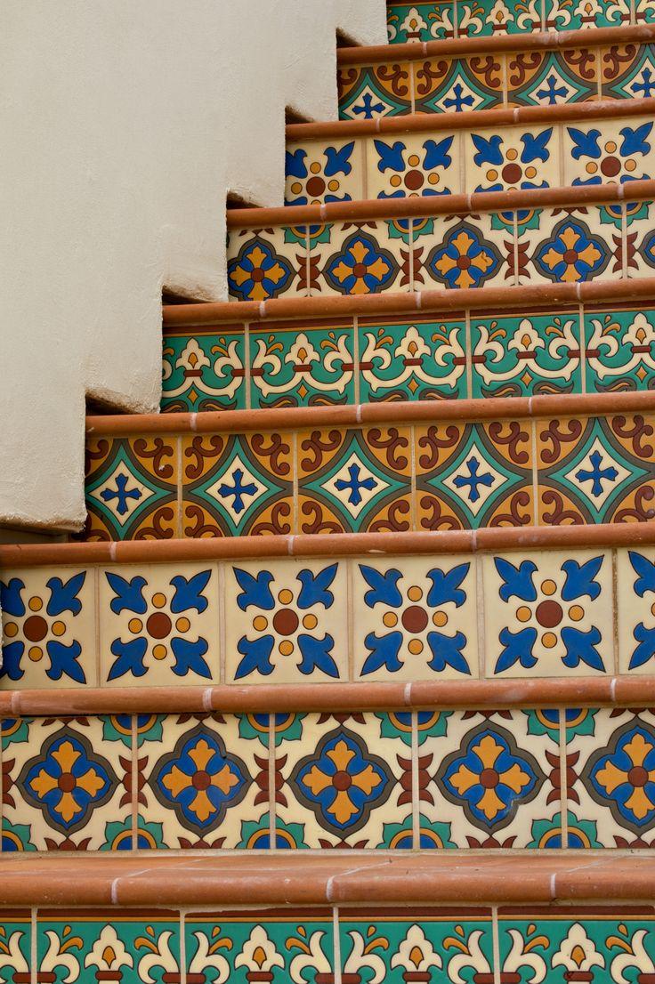 Spanish Tile Staircase Mosaics Tiles
