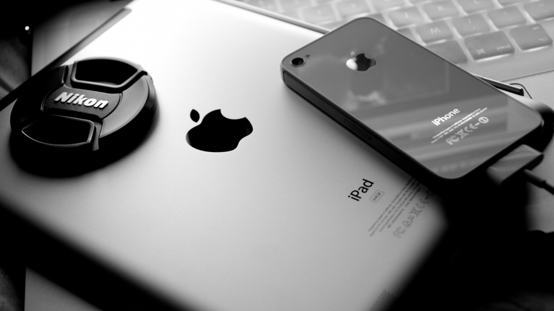 black and white apple inc ipad apples iphone 4 1920x1080 wallpaper 800x450