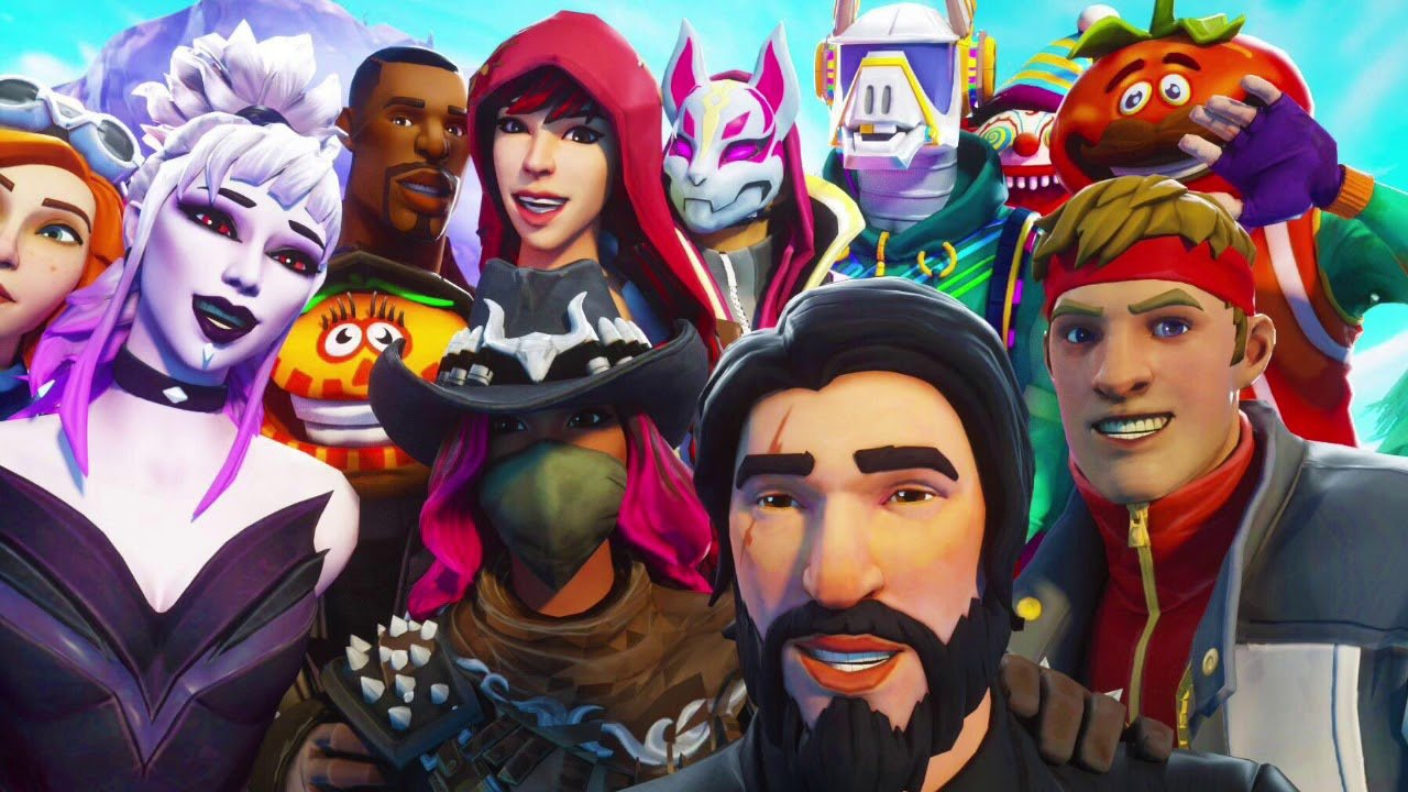 ALL NEW SKINS WALLPAPERS   Fortnite Battle Royale Default Skin 1280x720