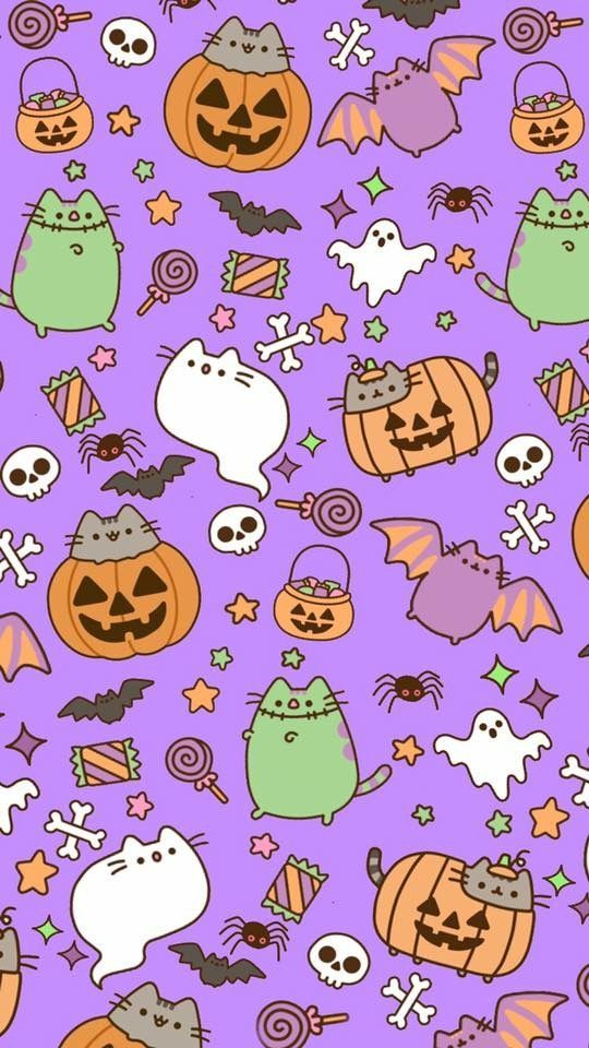 Halloween Pusheen Amy Rose In 2019 Halloween Wallpaper 63 Kawaii 540x960