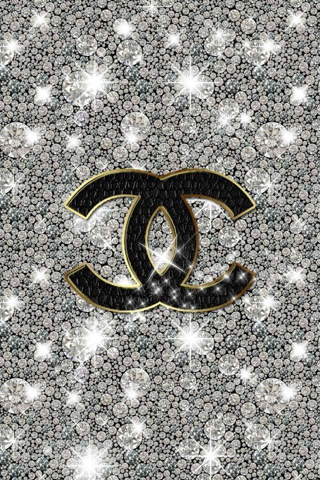 Chanel Glitter Sparkly iPhone Wallpaper Color   Glitter Sparkle Glo 640x960