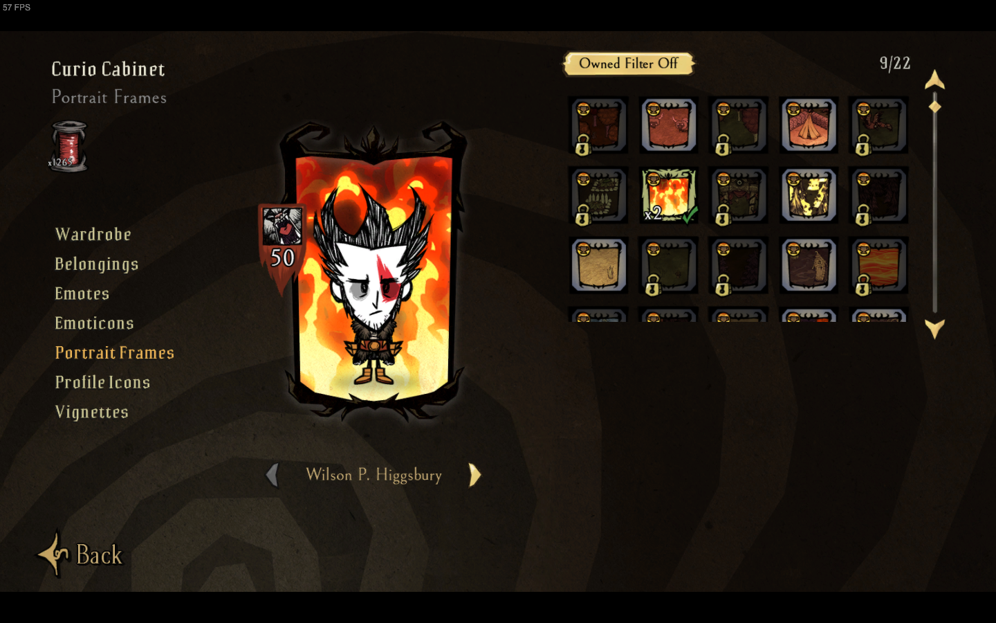 Did anyone else get 2 Loyal Flame Portrait Backgrounds dontstarve 1440x900