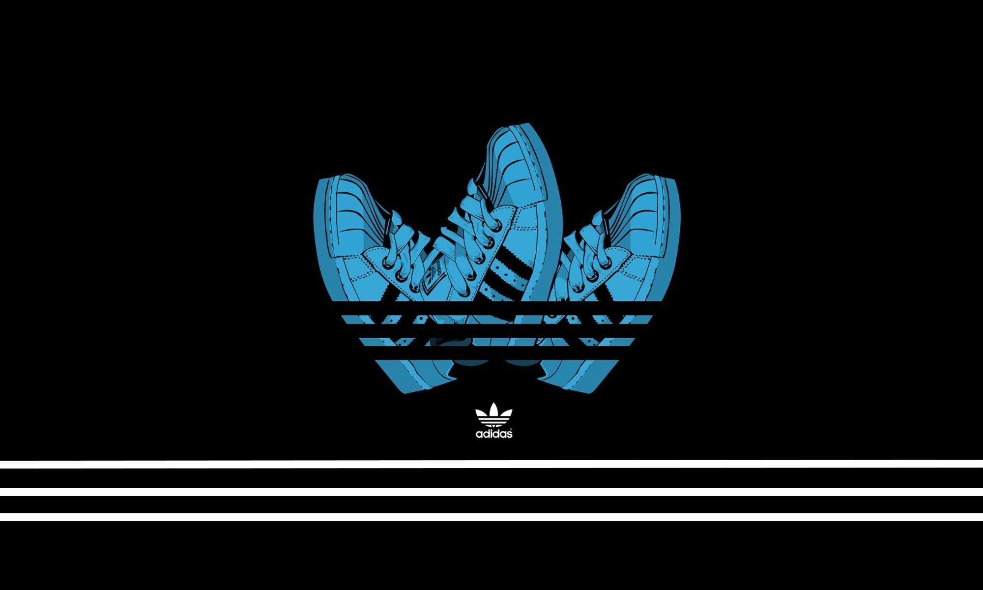 adidas adidas minimalism background black shoes HD wallpaper 2000x1200