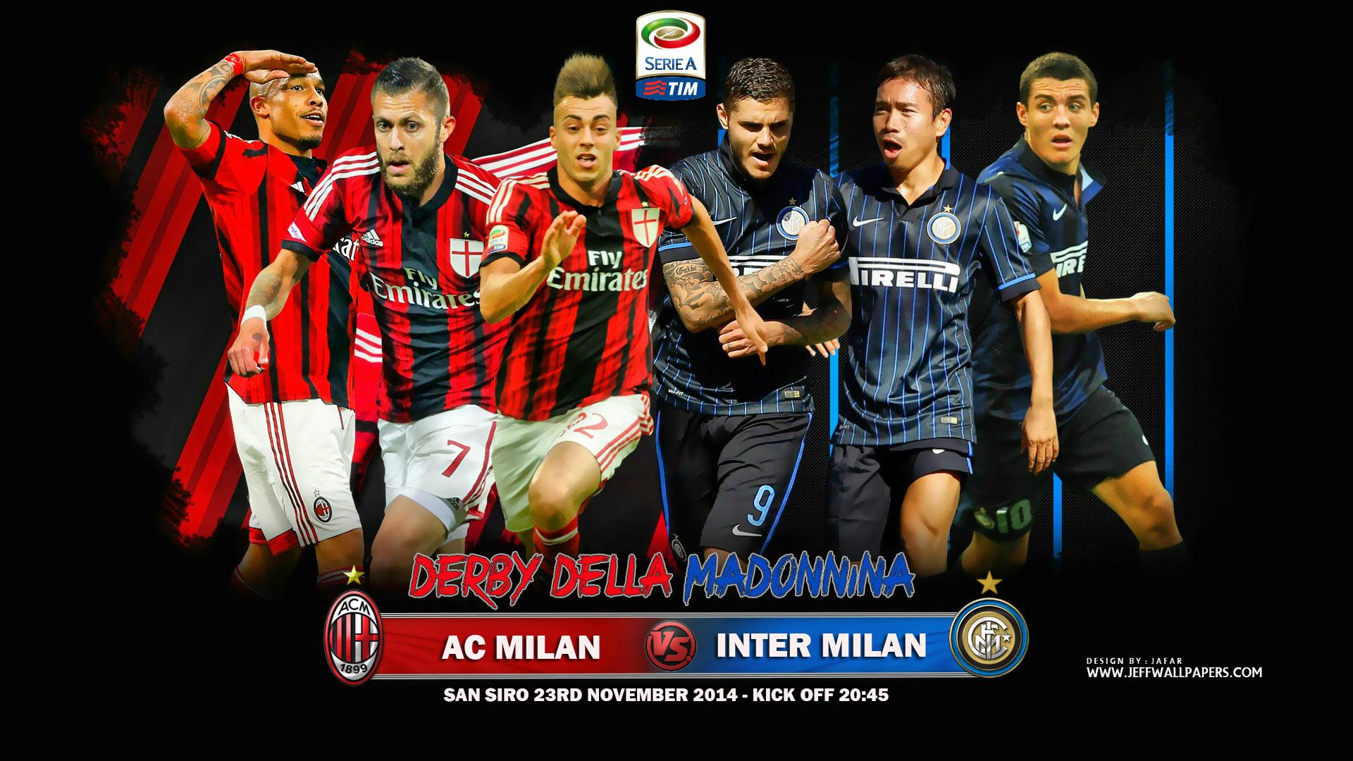 AC Milan vs Inter Milan 2014 2015 Derby Della Madonnina Wallpaper 1920x1080