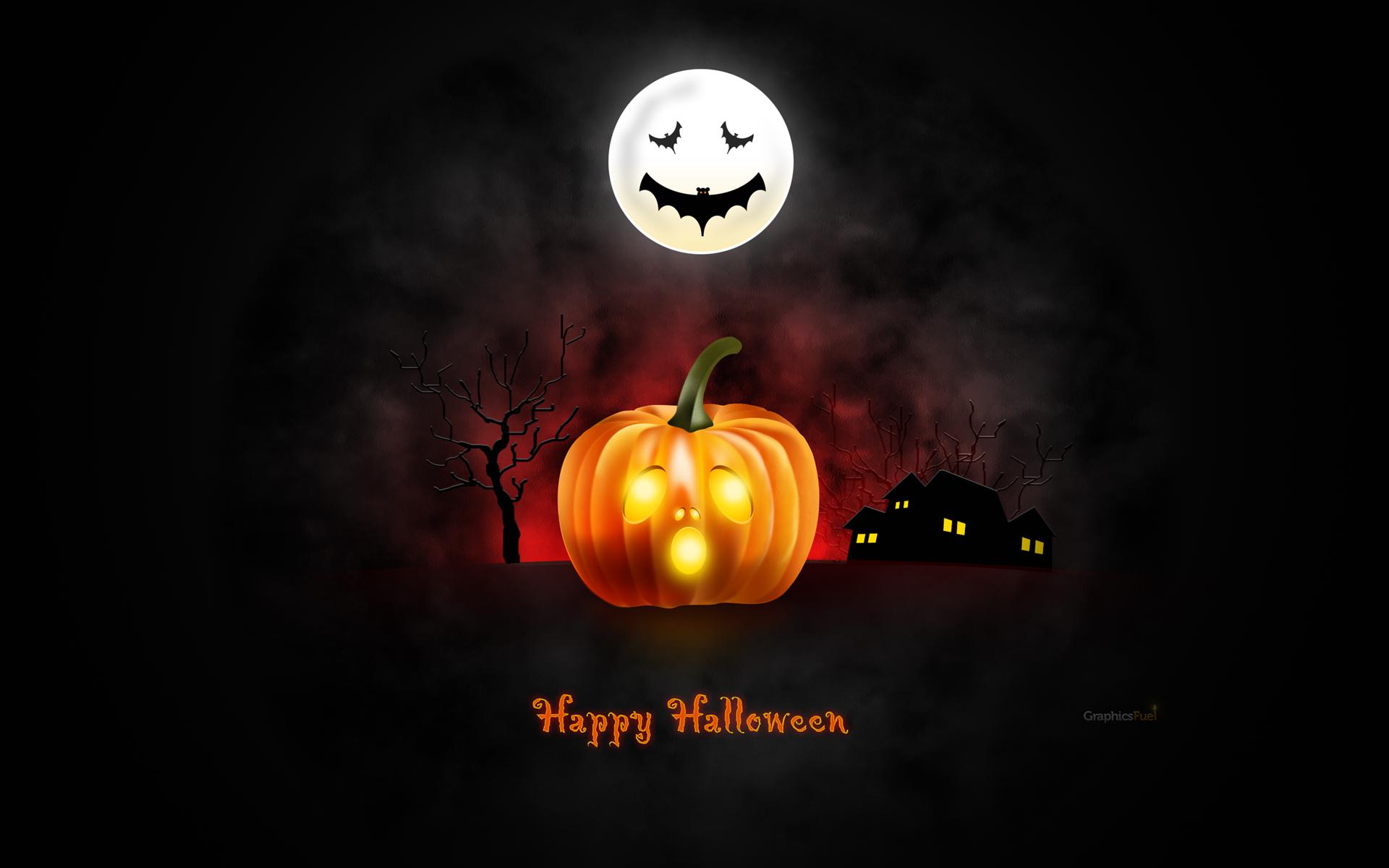 Halloween wallpaper for desktop iPad iPhone PSD icons 1920x1200