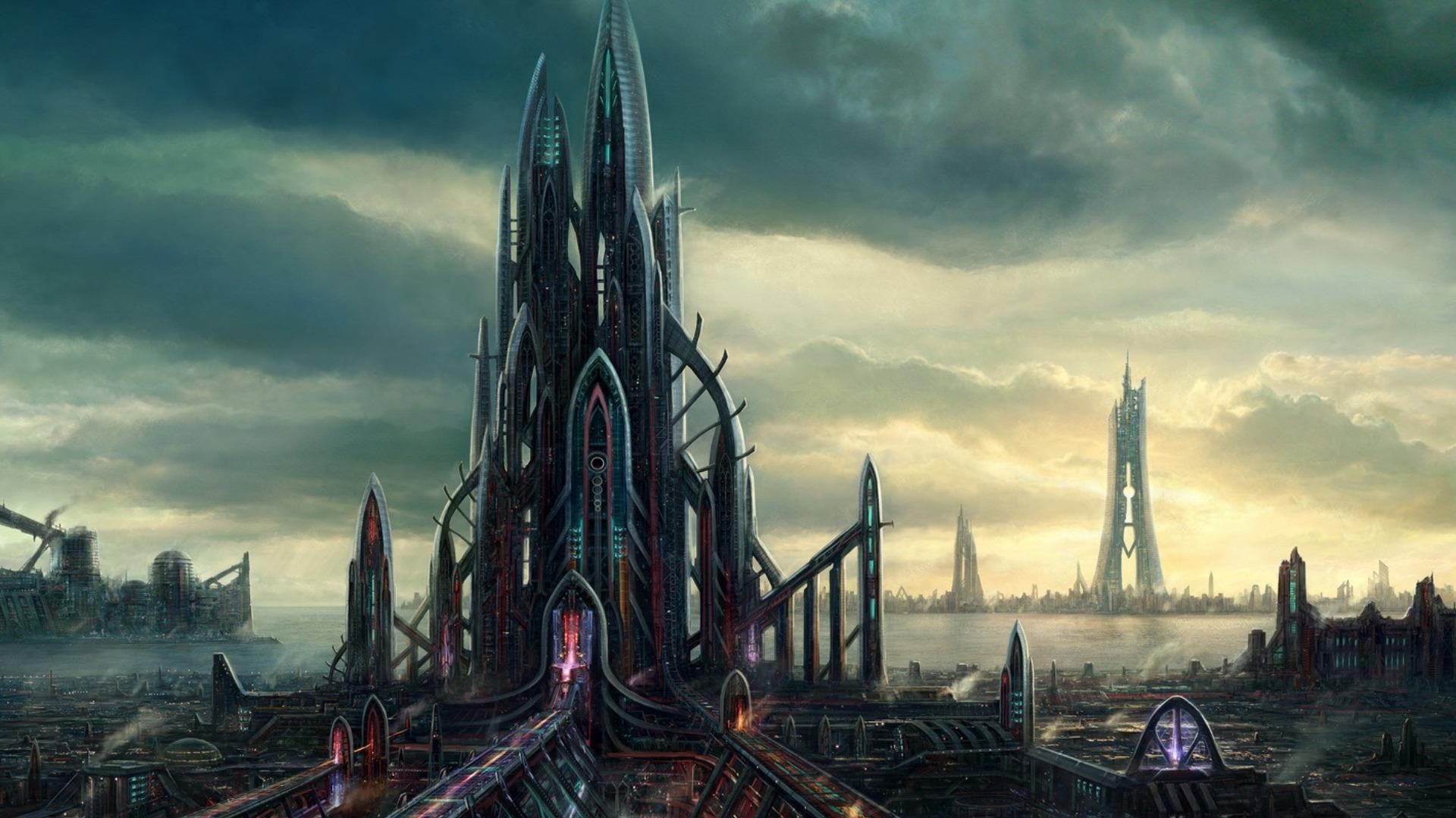 Sci Fi City Wallpapers Wallpapersafari