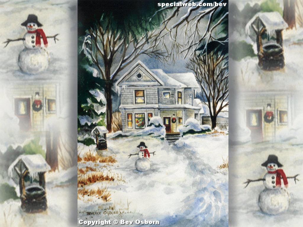 50 Christmas Scenes Wallpaper Desktop On Wallpapersafari
