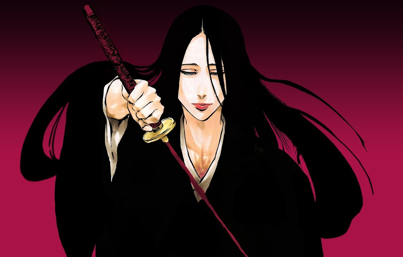 Wallpaper sword game Bleach woman anime ken bankai brunette 1332x850