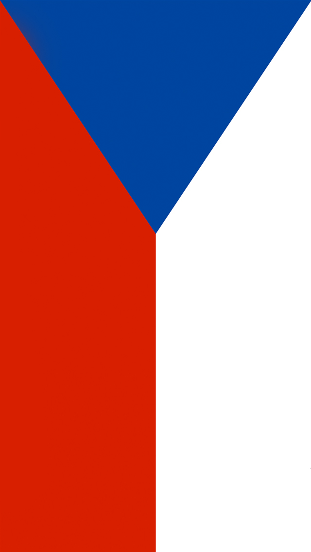 Czech Republic Flag iPhone Wallpaper HD 640x1136
