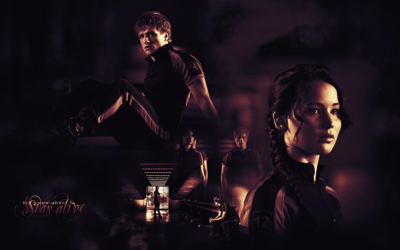 Peeta Katniss   Peeta Mellark and Katniss Everdeen Wallpaper 1440x900