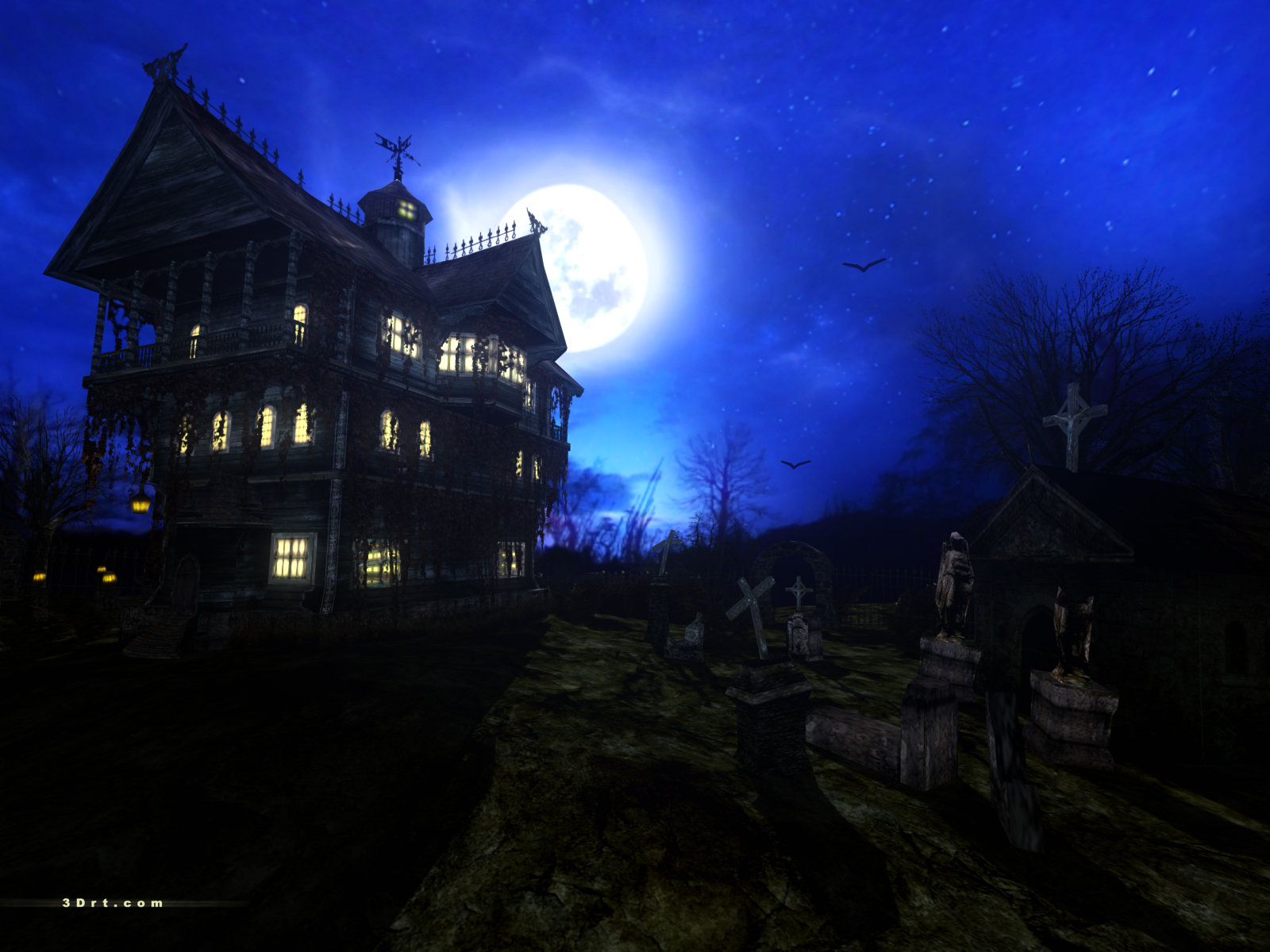 house wallpapers download haunted house wallpapers right click the 1600x1200