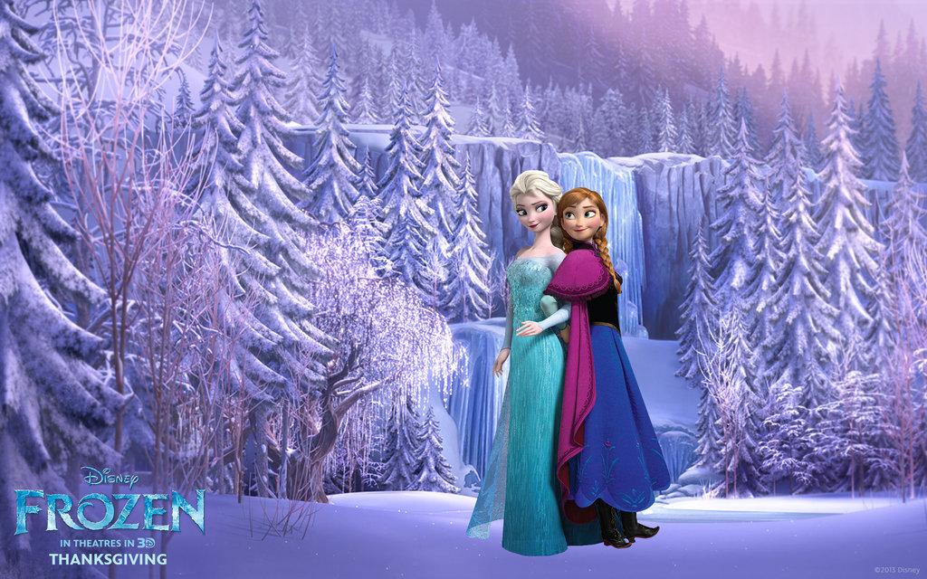 Frozen Wallpaper Elsa Anna I by Vegetto90 1024x640
