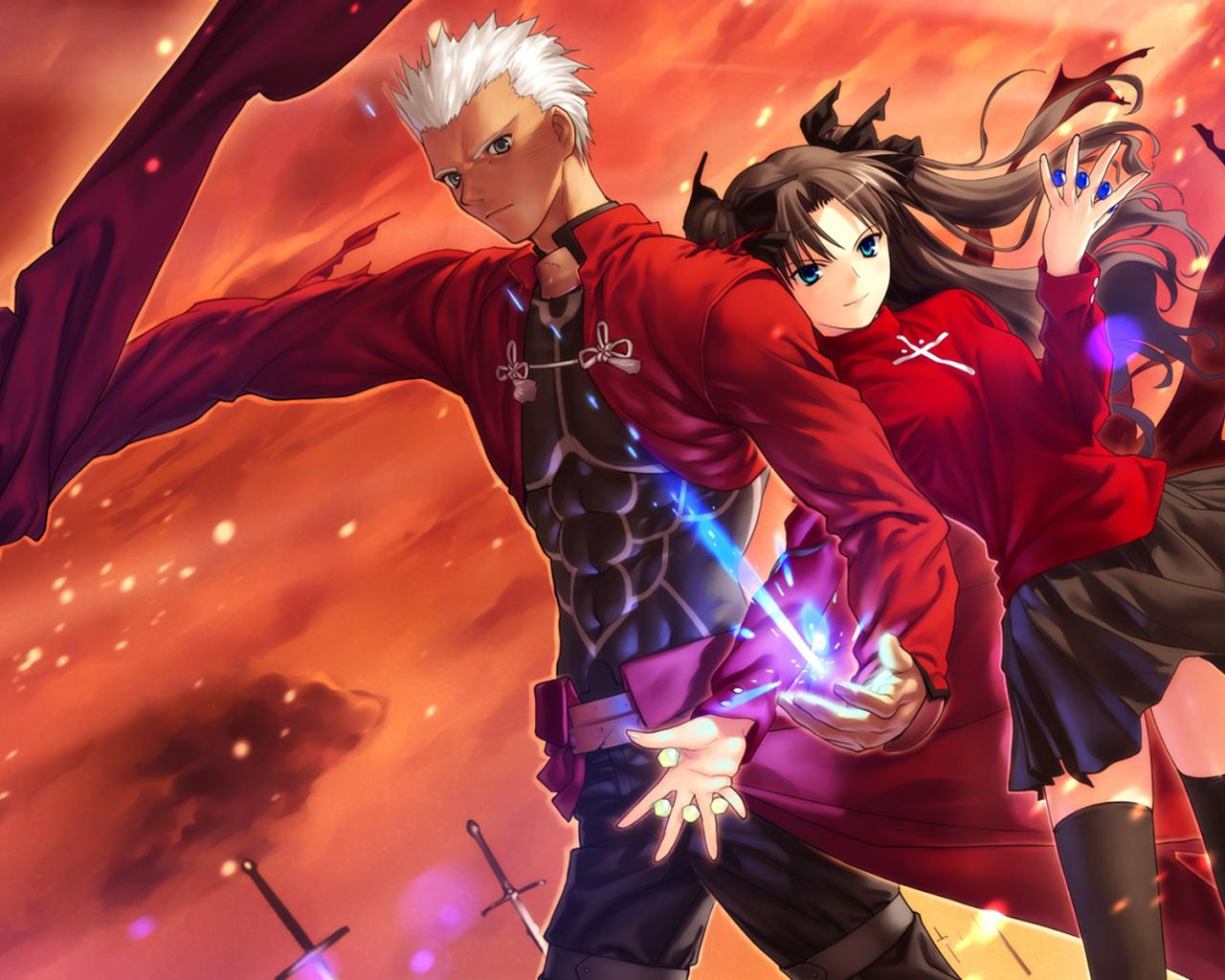 fate stay night fate stay night fate series tohsaka rin wallpaper 1280x1024