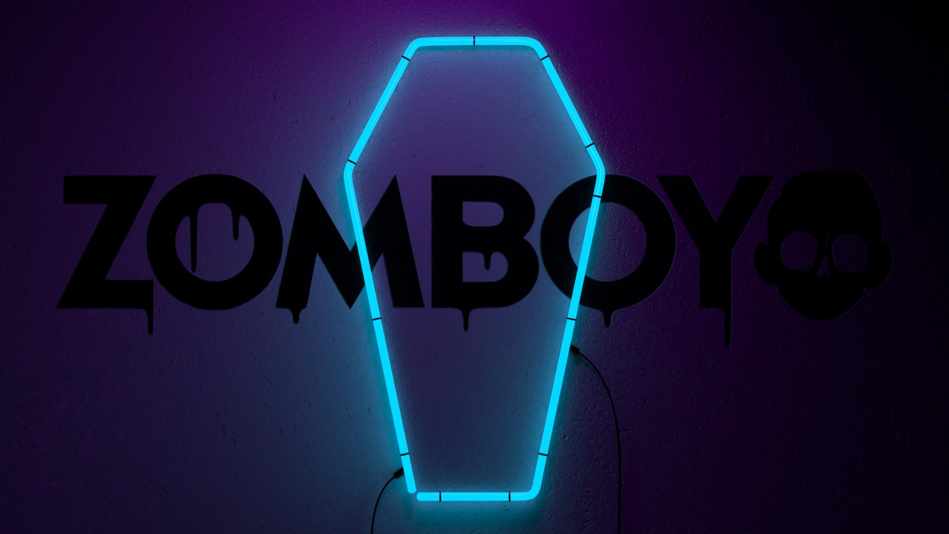 Zomboy fan made a Neon Grave wall blender 1920x1080