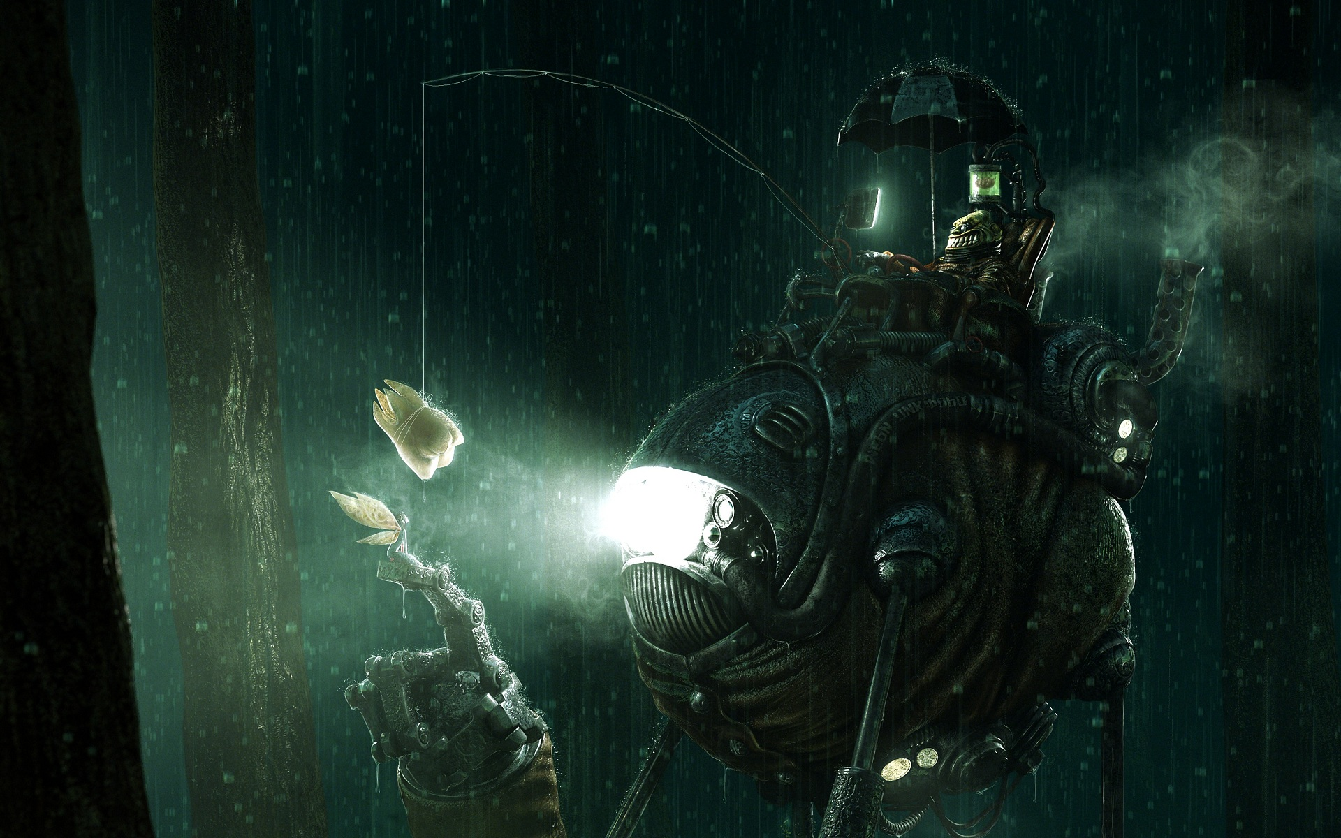 Steampunk Tooth Rain Machine Tooth Fairy Fairy wallpaper 1920x1200 1920x1200