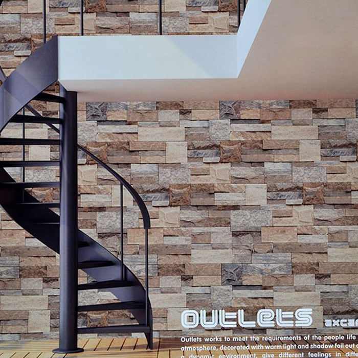 Vinyl wallpaper Stacked tile stone Brick Wall background Wallpaper 700x700