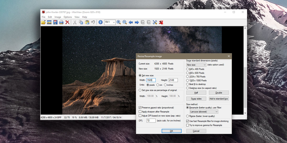 How To Resize An Image To A Desktop Wallpaper 1200x600