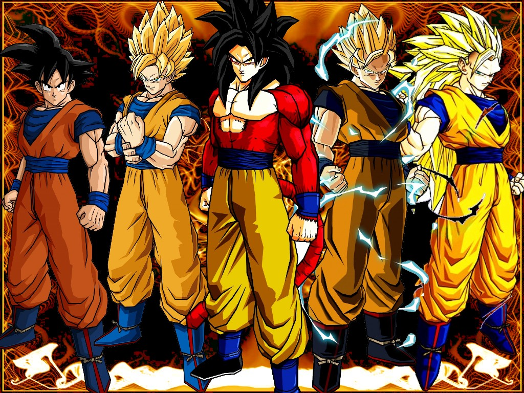 Animated Wallpaper dragon ball z kid goku 1024x768