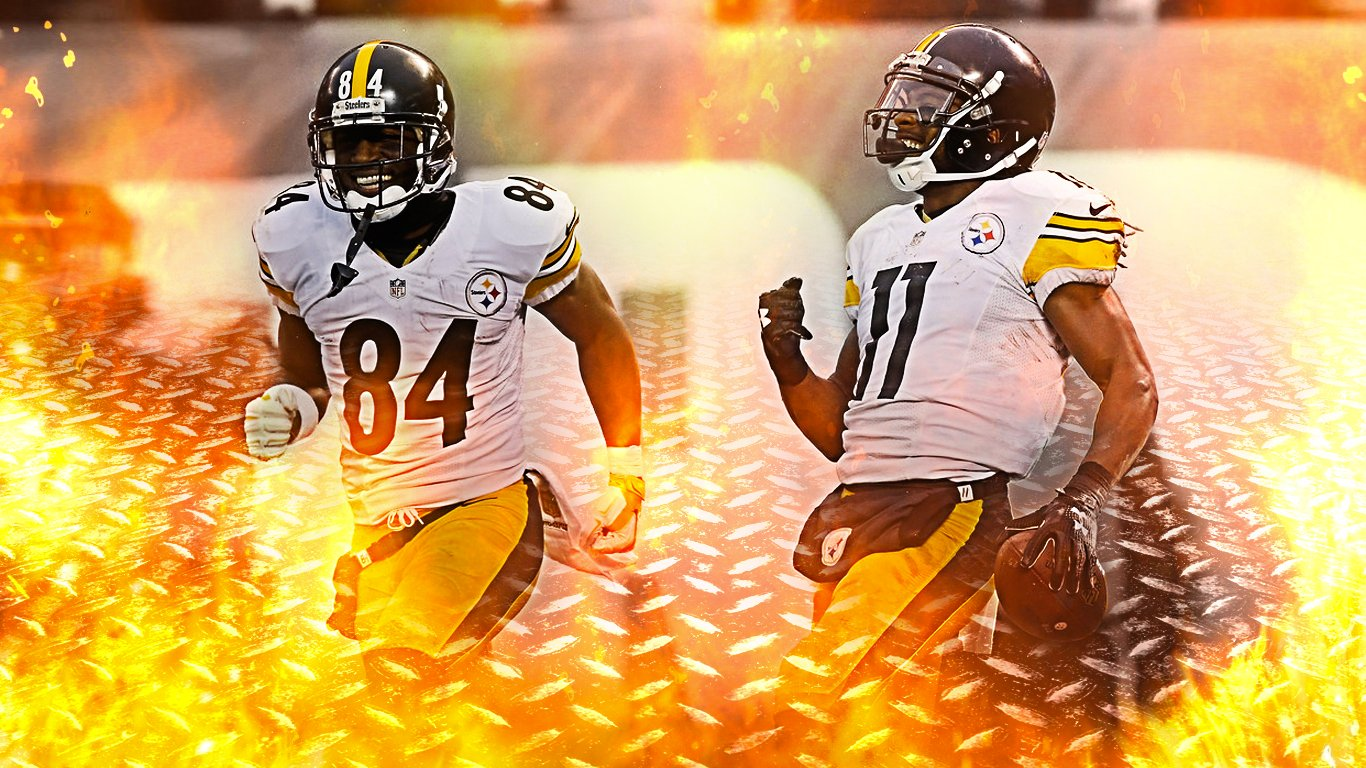 antonio brown markus wheaton steelers wallpaper 1366x768