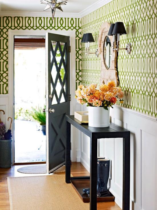 Green Trellis Wallpaper 550x733