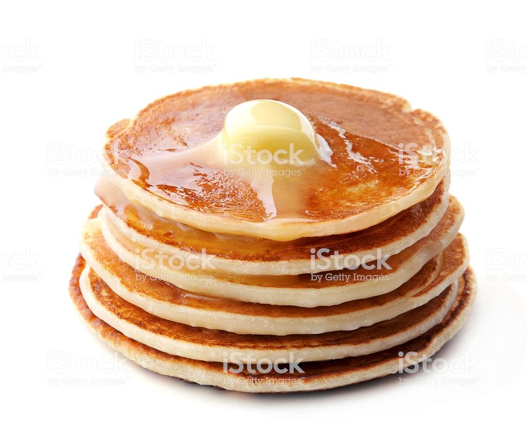 Pancakes On White Background Stock Photo   Download Image Now   iStock 1024x860