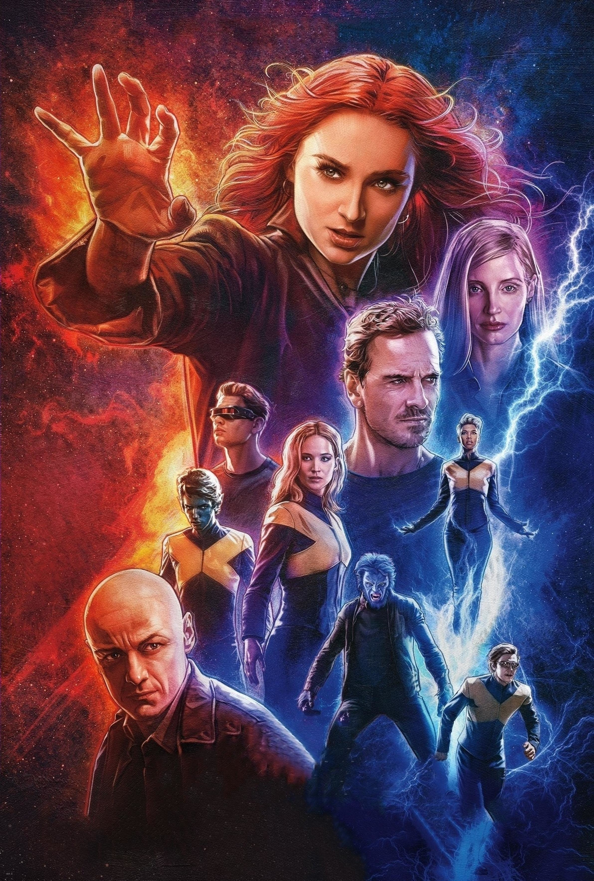 Dark Phoenix X Men Movie Poster Wallpaper HD Movies 4K Wallpapers 2382x3528