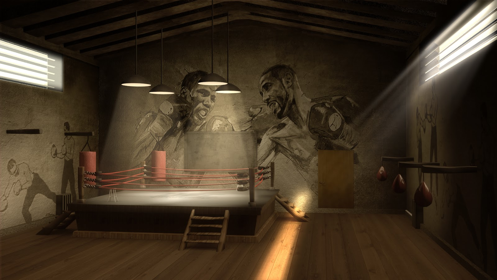Boxing Gym Wallpaper Ring 1600x900