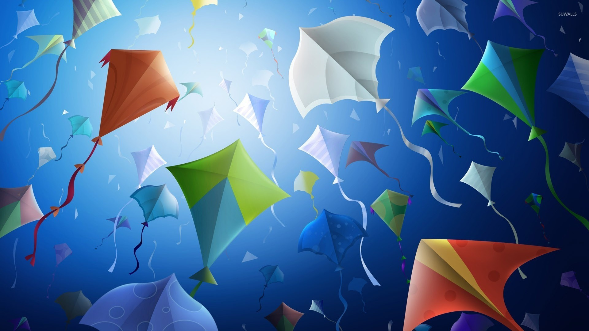Kites wallpaper   Vector wallpapers   11526 1920x1080